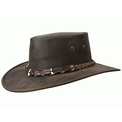 Barmah Outback Crocodile Teeth Leather Hat