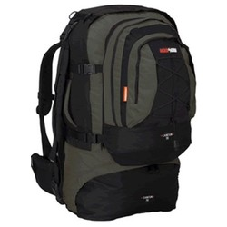 Black wolf Cancun 70L Travel Backpack & Detachable Daypack - Black