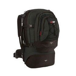 Black wolf Cancun 80L Travel Backpack & Detachable Daypack - Black