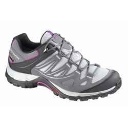 Salomon Ellipse GoreTex Womens Light Hiking Shoe -  Light Onix / Dark Cloud