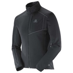 Salomon Discovery Mens Full Zip Mid-layer Jacket - Black