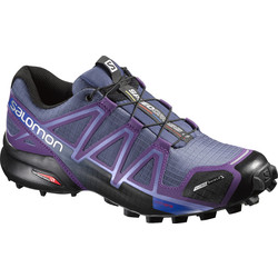 Salomon Speedcross 4 CS Womens Weatherproof Trail Running Shoes - Purple/Black