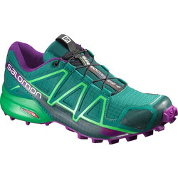Salomon Speedcross 4 Womens Trail Running Shoes - Veridian Green/Purple