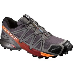 Salomon Speedcross 4 CS Mens Weatherproof Trail Running Shoes - Autobahn/Orange
