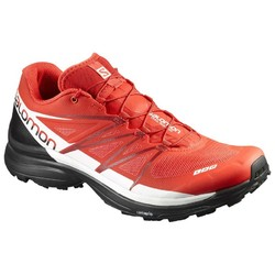 Salomon S-Lab Wings 8 Unisex Trail Running Shoes  - Racing Red/Black/White