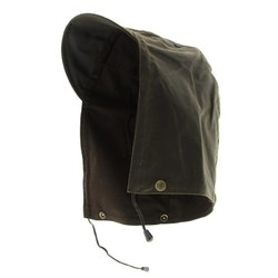 Burke and Wills Oilskin Cotton Hood with Visor