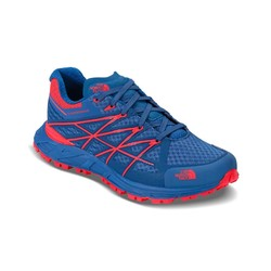 The North Face Womens Ultra Endurance Trail Running Shoes - Blue Quartz/Rocket Red