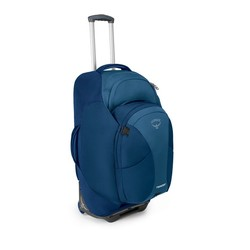 "Osprey Meridian Wheeled Travel Backpack and Zip-off Daypack  28""/75L - Lagoon Blue"