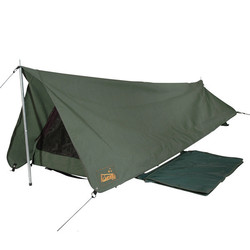 Sahara Rover Deluxe King Single Apex Traditional Canvas Swag & Bag