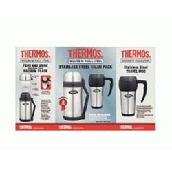Thermos 1.2 Stainless Steel Food & Drink Flask & 450ml Mug PACK