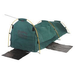 Burke and Wills Coolabah Green Single Dome Canvas Swag - PVC BASE
