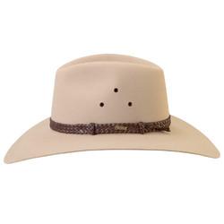 d3c8b0ed23e AKUBRA Riverina WIDE BRIM Felt Hat - Sand  Hat Size 57cm   7 1. Show More