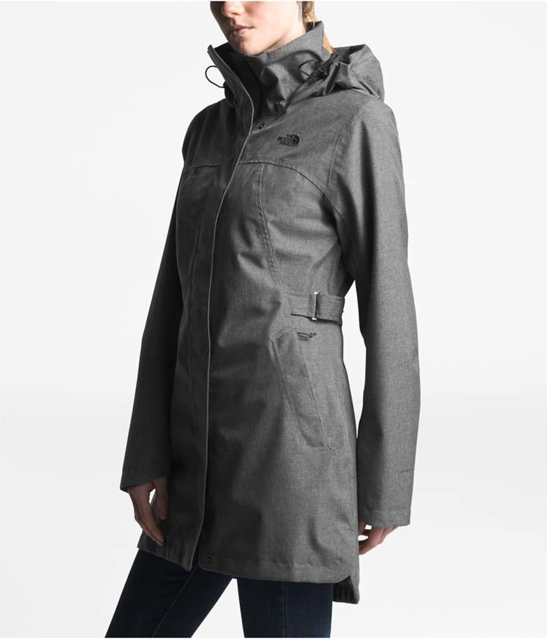 f7bd07b81 The North Face Womens Laney Trench II Waterproof Jacket - Tnf Medium Grey  Heather