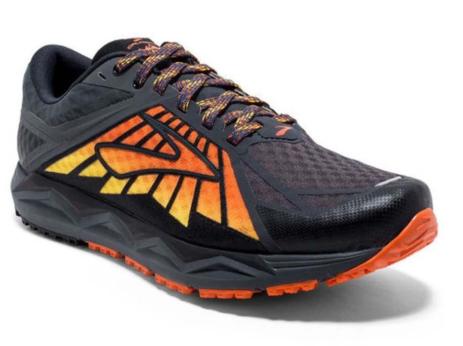 524dd2dfb57 Brooks Caldera Mens Trail Running Shoes - Black Red Orange. Show More