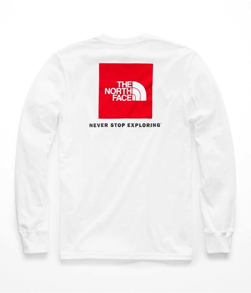 6eefda1dc The North Face Long Sleeve Red Box Mens Tee - TNF White/TNF Red