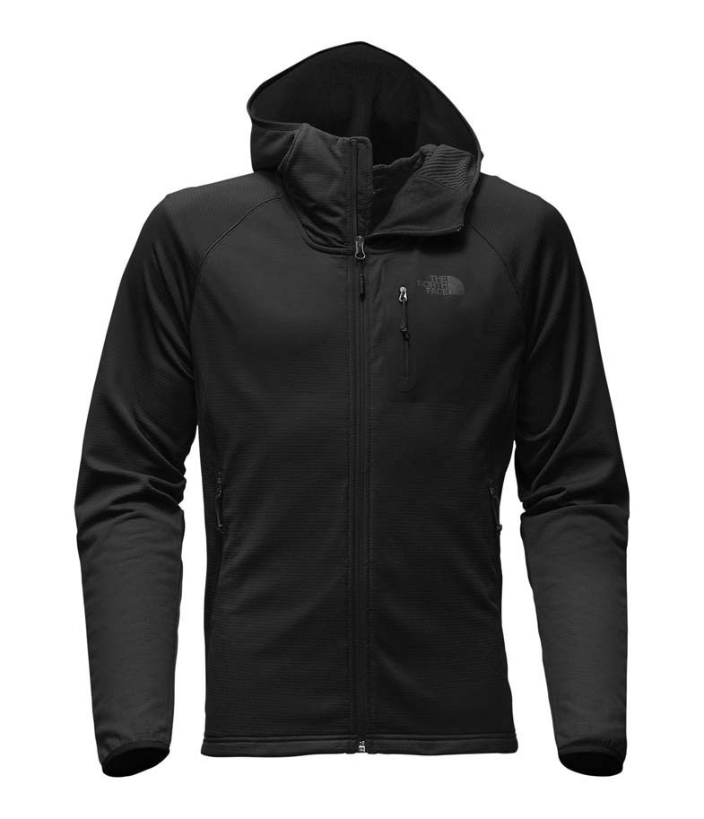 0d42759ce27a3 The North Face Mens Borod Hoodie Stretch Fleece - TNF Black