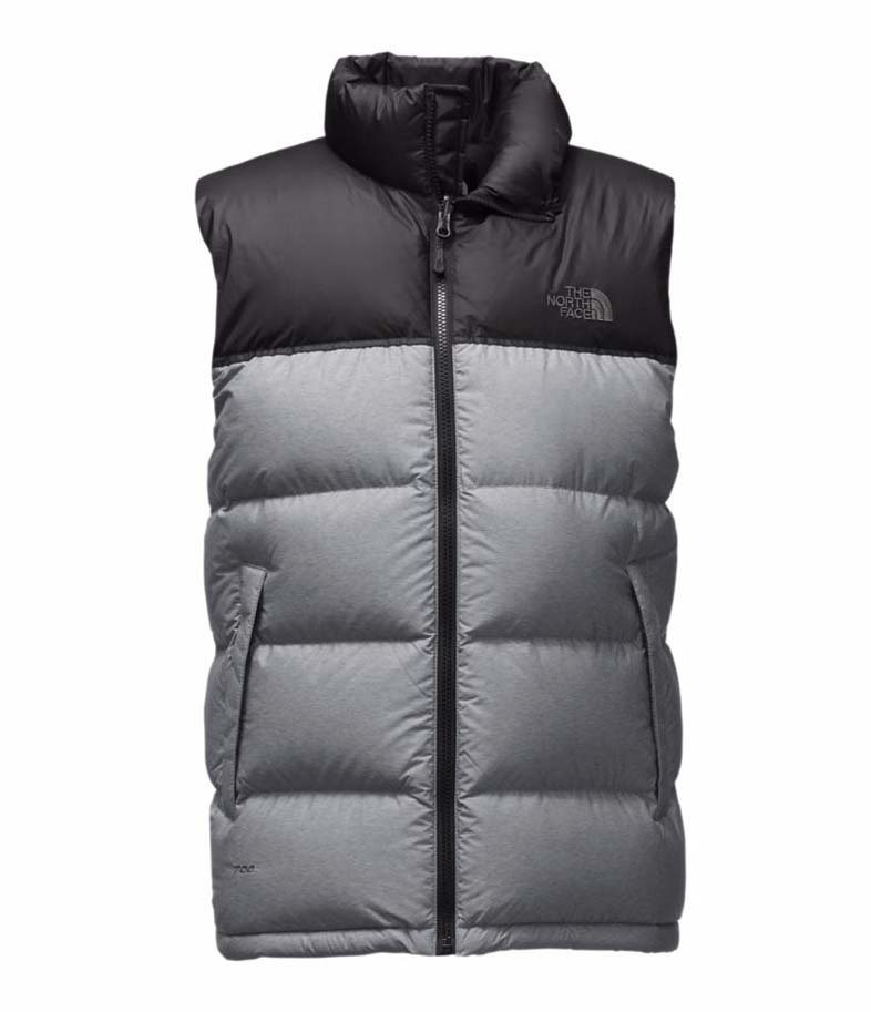 e846539b12 The North Face Nuptse Mens Vest - TNF Medium Grey Heather TNF Black. Show  More