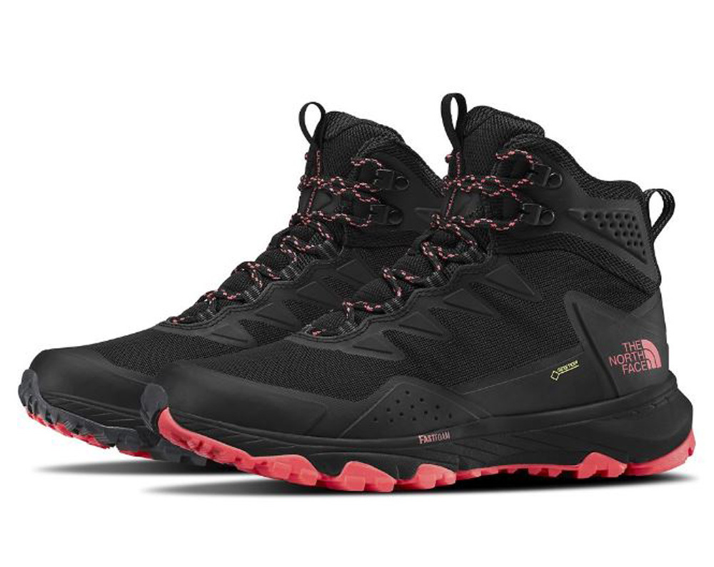 b8583bbf9 The North Face Ultra Fastpack III Mid Goretex Womens Waterproof Hiking  Boots - Black/Fiery Coral