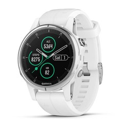 Garmin Fenix 5S Plus GPS Watch - Sapphire White with White Band
