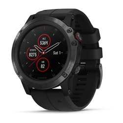 Garmin Fenix 5X Plus GPS Watch - Sapphire Black with Black Band