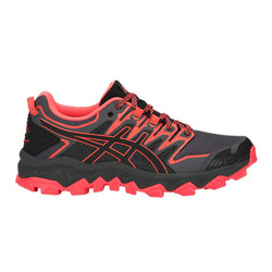 Asics Gel-Fujitrabuco 7 Womens Trail Running Shoes - Black/Flash Coral