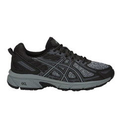 Asics Gel-Venture 6 Womens (D) Wide Trail Running Shoes - Black/Stone Grey
