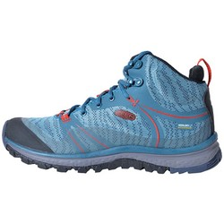Keen Terradora Mid Waterproof Womens Hiking Boots - Blue Coral/Fiery Red
