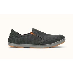 OluKai Nohea Mesh Mens Slip-on Shoes - Dark Shadow/Dark Shadow