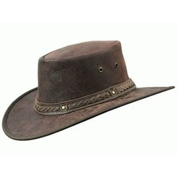 Barmah Squashy Foldaway Crackle Kangaroo Hat & Cooper crossing band