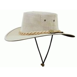 Barmah Canvas Drover Breeze Hat - KHAKI