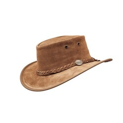 Barmah Foldaway Suede Leather Hat - Hickory