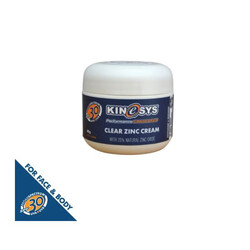 KINeSYS SPF 30 Clear Zinc Cream with 25% Zinc Oxide - 60g