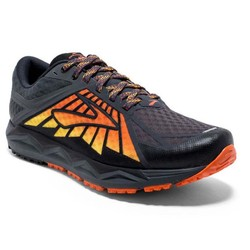 Brooks Caldera Mens Trail Running Shoes - Black/Red/Orange