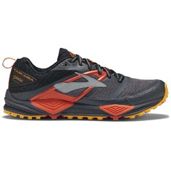 Brooks Cascadia Goretex Waterproof Mens Trail Running Shoes - Black/Ebony/Cherry Tomato
