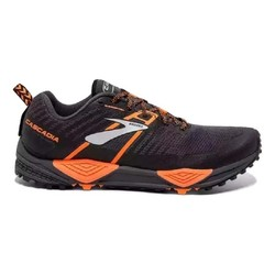 0689ed41480 Brooks Cascadia 13 Mens Wide Trail Running Shoes - Grey Black Orange