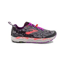 Brooks Caldera 3 Womens Trail Running Shoes - Black/Purple/Coral