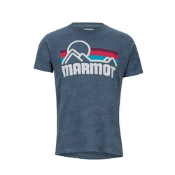 Marmot Coastal Short Sleeve Mens Tee - Navy Heather