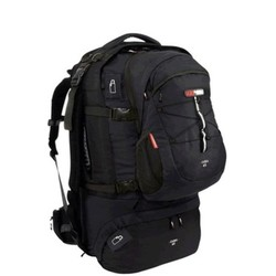 Black Wolf Cuba 90L Expandable Travel Pack with Zip-off daypack - Black