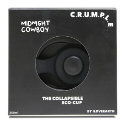 Crumple Midnight Cowboy Collapsible Reusable Eco Cup - 350ml