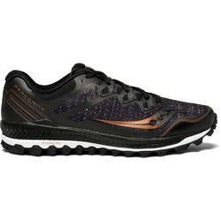 Saucony Peregrine 8 Mens Trail Running Shoes - Black/Denim/Copper