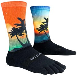 Injinji Spectrum Trail 2.0 Midweight Crew Performance Toe Sock - Coastal