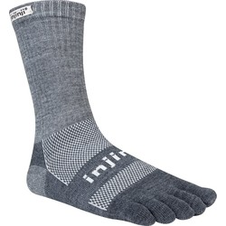 Injinji Outdoor MidWeight Crew Performance toe socks - Granite