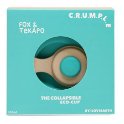 Crumple Fox and Tekapo Collapsible Reusable Eco Cup - 350 ml