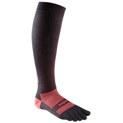 Injinji Lightweight Compression Over The Calf performance toe socks - black