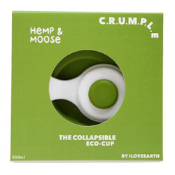 Crumple Hemp and Moose Collapsible Reusable Eco Cup - 350ml