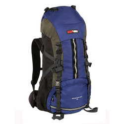 Black Wolf Mountain Ash 65L Hiking Rucksack Backpack - Blue