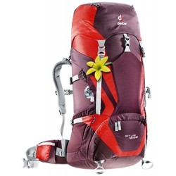 Deuter ACT LITE 45+10 SL Womens Hiking Rucksack - Aubergine/Fire