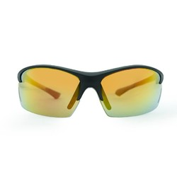 Venture Eyewear Speed Polarised Sunglasses - Matt Blk/Red Revo