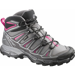 Salomon X Ultra Mid 2 Goretex Womens Hiking Boots - Detroit/Autobahn/Hot Pink