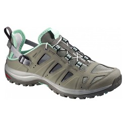Salomon Ellipse Cabrio Womens Light Hiking Sandal - Dark TT/Titanium/Lucite Green